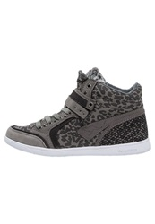 Kangaroos Basket Hightop Trainers Dark Grey Black