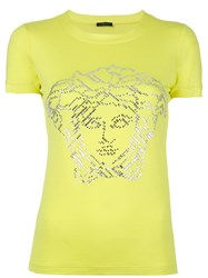 Versace Crystal Embellished T Shirt Green