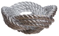 Areaware Knotted Rope Bowl White