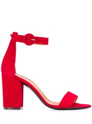 Via Roma 15 Ankle Buckled Sandals Red