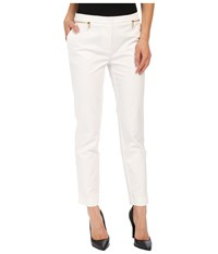 Calvin Klein Ankle Pants W Zips Soft White Women's Casual Pants