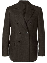 Massimo Piombo Mp Double Breasted Blazer Brown