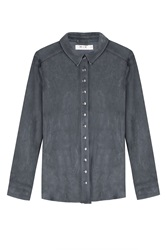 M I H Jeans Suede Shirt Grey