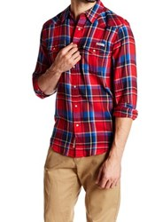Lucky Brand Plaid Western Woven Shirt Red