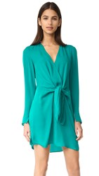 3.1 Phillip Lim Front Knot Dress Turquoise