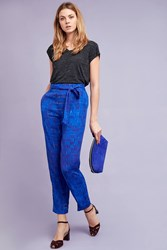 Blank Saphir Belted Trousers Blue