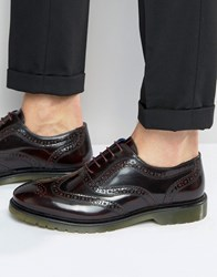Red Tape Brogues In Oxblood Red