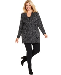 Charter Club Plus Size Cheetah Print Duster Cardigan
