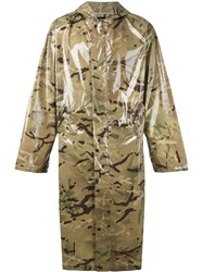 Misbhv Shiny Camouflage Hooded Coat Men Polyimide One Size Green