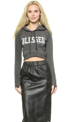 Spiritual Gangster Blessed Crop Hoodie Black Sand