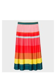 Paul Smith Women's Multi Colour Pleated Skirt Red