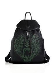 Alexander Mcqueen Lion Print Backpack Black Multi