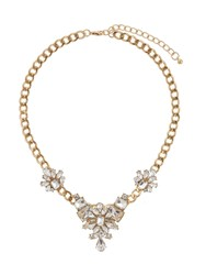 Mikey Flower Crystal Pendant Chain Necklace