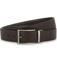 Canali Braided Leather Belt Brown