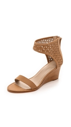 Zimmermann Lattice Wedge Sandals Nude