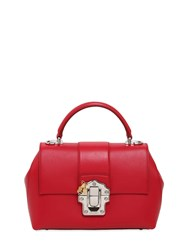 Dolce And Gabbana Medium Lucia Leather Top Handle Bag
