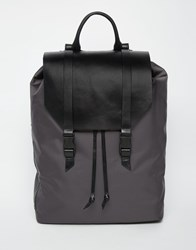 Royal Republiq Galactic Legioner Backpack With Leather Trims Black