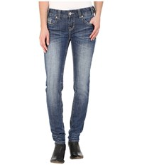 Rock And Roll Cowgirl Low Rise Skinny In Medium Vintage W0s5611 Medium Vintage Women's Jeans Blue
