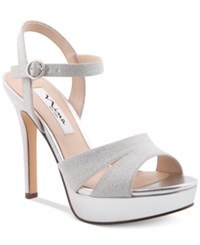 Nina Shara Platform Evening Sandals Women's Shoes Silver