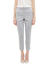 Ted Baker Radiiat Top Stitch Detail Suit Trousers Light Grey