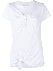 Marques Almeida Knotted T Shirt White