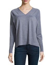 J Brand Ready To Wear Merino Long Sleeve Sweater Med. Heather Gray