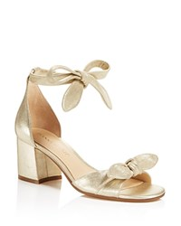Ivanka Trump Ezra Metallic Mid Block Heel Sandals 100 Bloomingdale's Exclusive Gold