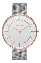 Skagen Women's Gitte Round Mesh Strap Watch 38Mm
