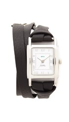 La Mer Italian Wrap Watch Silver Black