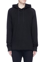 Elizabeth Cole Lace Up Cotton Hoodie Black