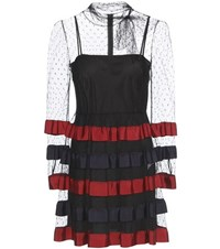 Red Valentino Lace And Ribbon Dress Black