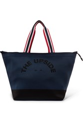 The Upside Embroidered Neoprene Tote Midnight Blue