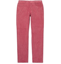 Anderson And Sheppard Slim Fit Cotton Corduroy Trousers Pink