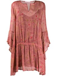 Kristina Ti Lightweight Floral Dress Pink