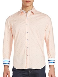 Robert Graham Striped Cuff Sportshirt Orange