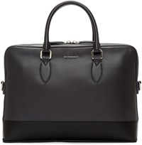 Burberry Grey The Barrow Briefcase