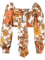 Dodo Bar Or Floral Print Cropped Top 60