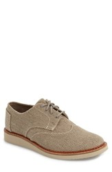 Men's Toms 'Classic Brogue' Cotton Twill Oxford Desert Taupe Farren