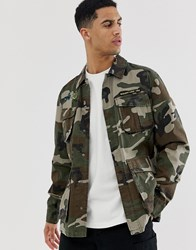 Element Kershnar Shirt Jacket In Camo Green