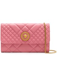 Versace Quilted Clutch Pink
