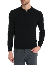 Ikks Black Tunisian Sweater