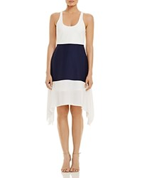 Likely Madison Color Block Dress White Navy