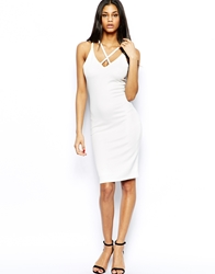 John Zack Bodycon Dress With Strap Detail