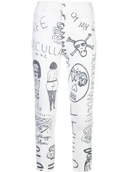 Haculla Mindful Doodles Jeans White