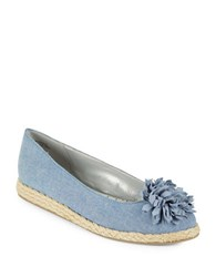 Bandolino Blondellefloral Embellished Flats Light Blue