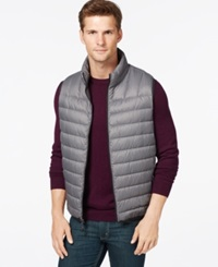 Hawke And Co. Outfitter Hawke And Co. Packable Vest Grey Herringbone