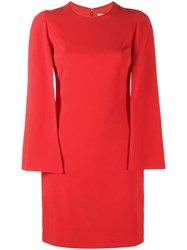 Givenchy Cape Dress Red