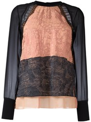 3.1 Phillip Lim Layered Detail Jumper Nude Neutrals