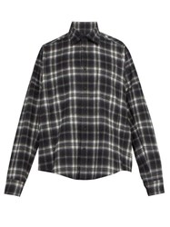 Bless Checked Cotton Shirt Grey