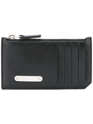Saint Laurent Id Fragments Zip Pouch Black